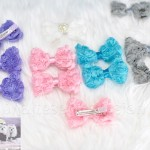 """3"""" LACEY ROSEY POSEY Bow Clip"""