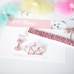 Dolce Collection Tiara Crown Hair Bling + Tweety Collection 4-Row Brilliant Bling Necklace in PINK